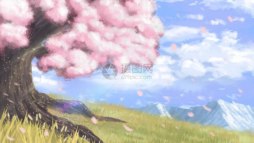 梦幻樱花树图片