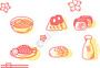日系和风食物寿司大福饼矢量图标图片