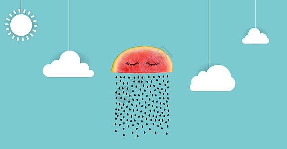 创意水果西瓜广告背景图片