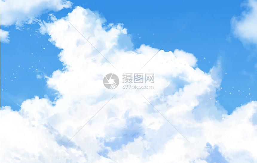 清新蓝天图片