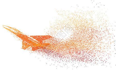 战斗飞机剪影粒子图片