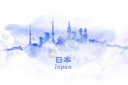 日本水彩插画图片