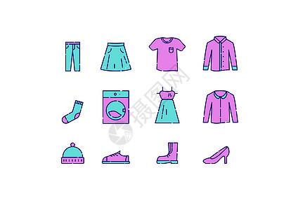 服装系列插画图标图片