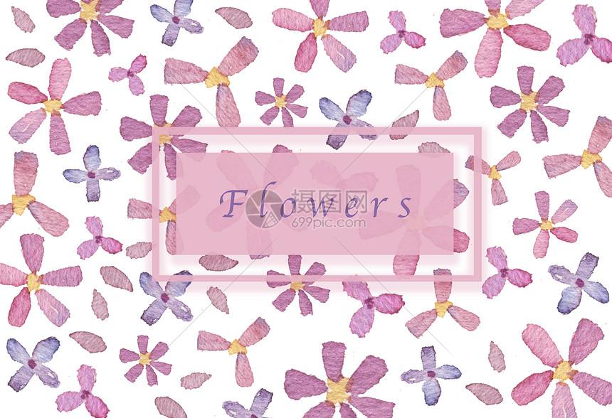 清新粉紫花朵背景图片