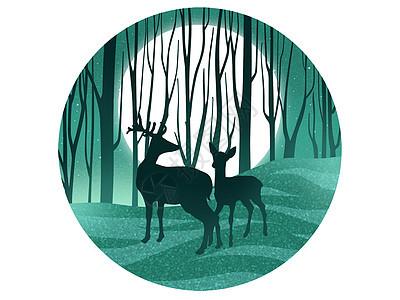 森林里的鹿图片