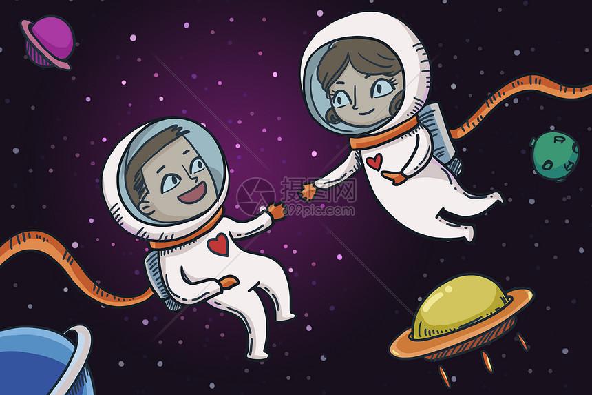 太空航天员图片