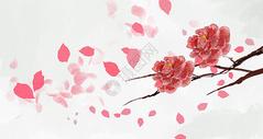 古风唯美水彩花卉图片