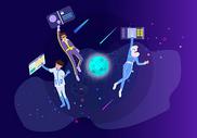 互联网科技太空图片