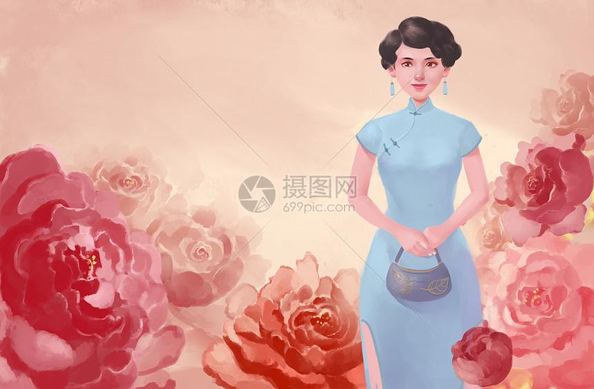 中国印象旗袍美女图片