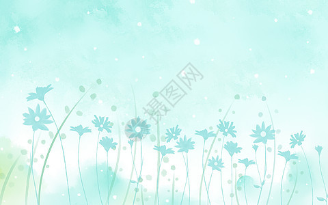 水彩雏菊背景图片