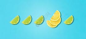纯色水果背景图片