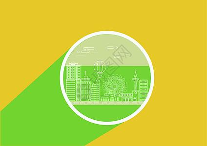 游乐园建筑线稿图标图片