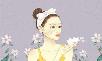 护肤女孩图片