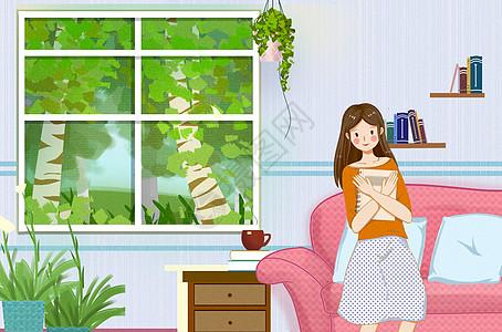读书女孩-学习图片