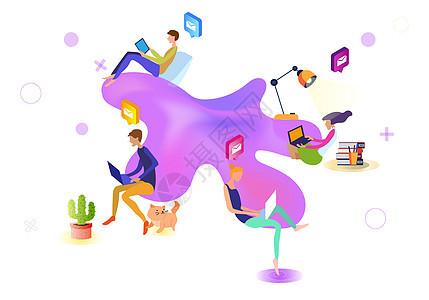 互联网连接通讯图片