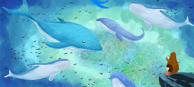 海深时见鲸图片