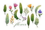花卉植物元素集合400132796图片