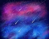 星空流星插画图片