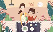 母亲节手绘插画图片