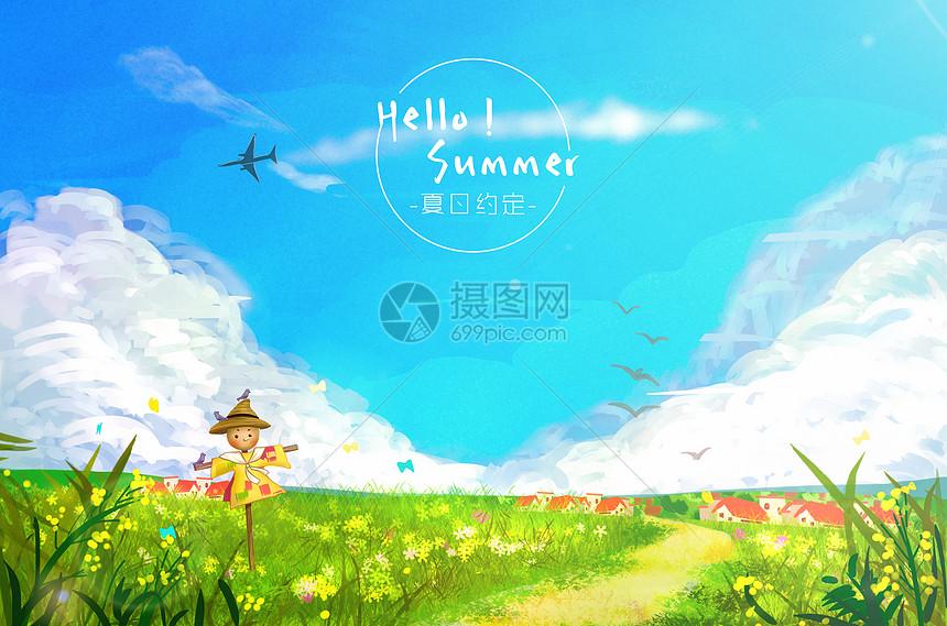 夏至-夏日田野图片