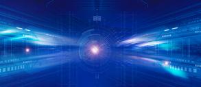 蓝色科技抽象背景图片
