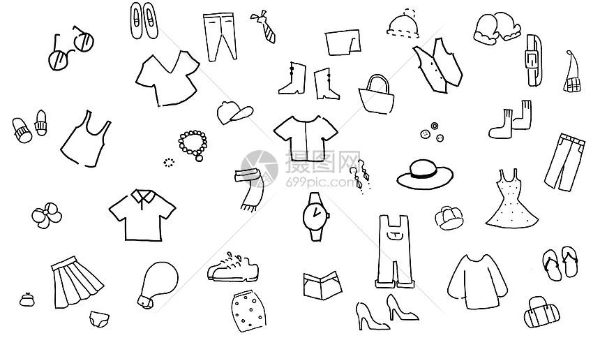 手绘装饰图标元素图片