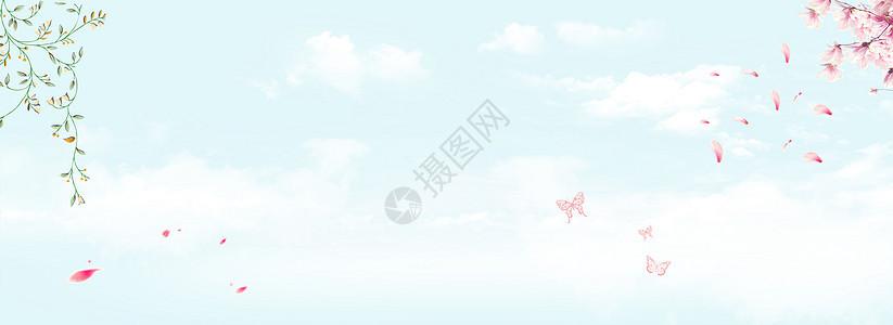 母亲节清新banner背景图片