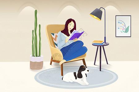 看书的女人图片