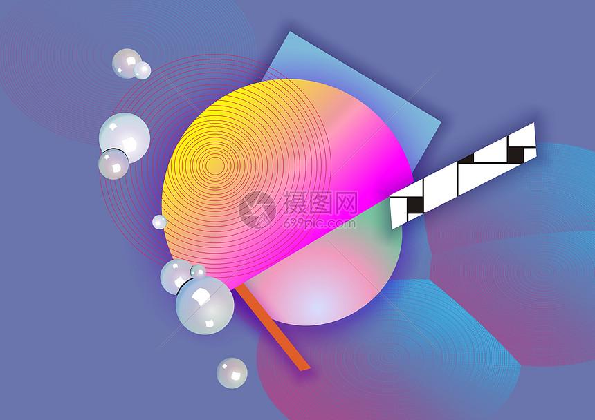 矢量抽象几何彩色背景图片