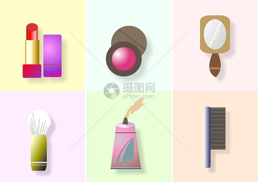 时尚化妆品图标图片