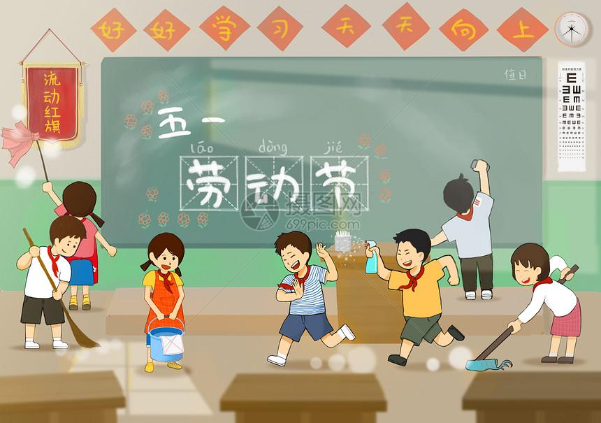 五一劳动节儿童简笔画幼儿园图片
