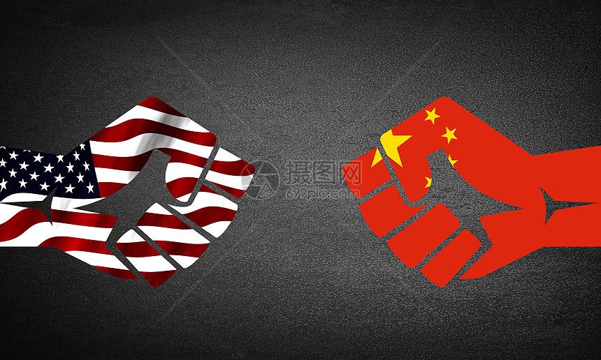 中美贸易竞争图片