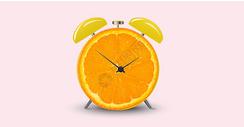 创意水果橙子广告背景图片