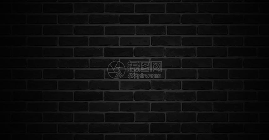 黑色砖墙背景图片