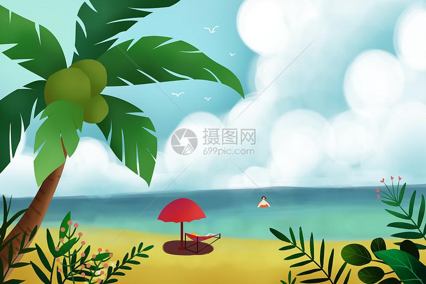 夏天海边风景图片