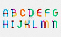 彩色字母图片