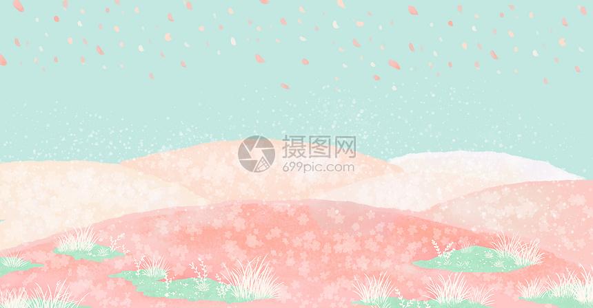 复古樱花和风背景图片
