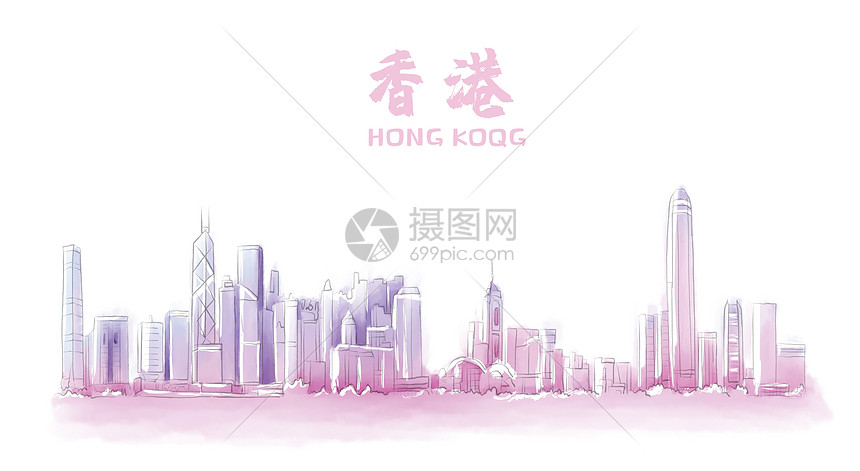 香港地标建筑图片