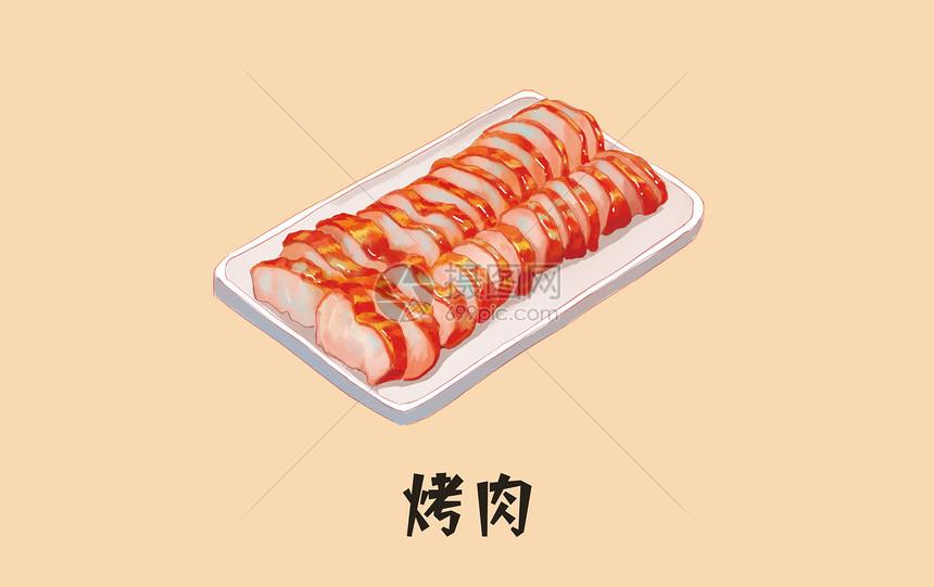 美食烤肉图片