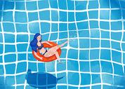 立夏游泳插画图片