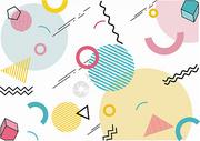 小清新几何背景素材图片