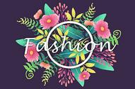 时尚字母花卉植被背景图片
