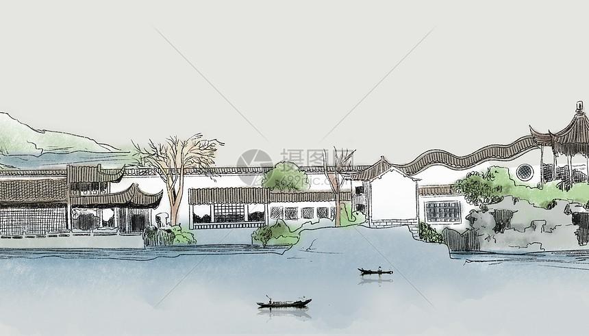 苏州水乡图片