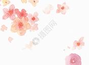 红色水彩花朵背景图片