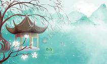 中国风背景插画图片