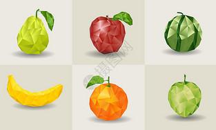 低多边形水果图片