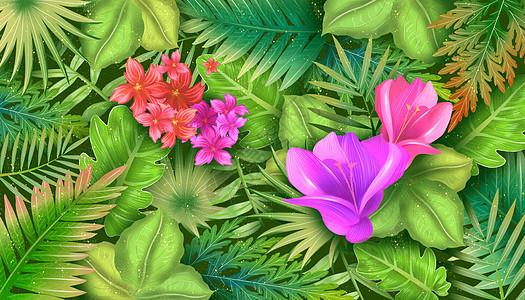绿色植物花卉背景图片