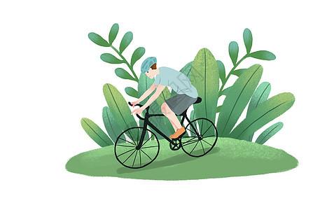 骑行的人图片