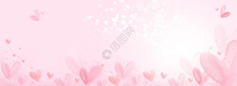 情人节520梦幻粉红背景图片