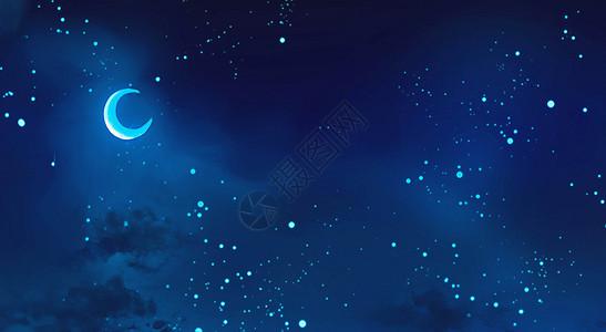 夜空中的月亮图片
